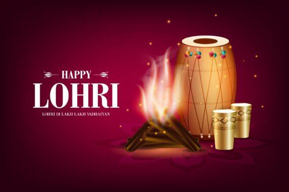 Happy Lohri BG Image