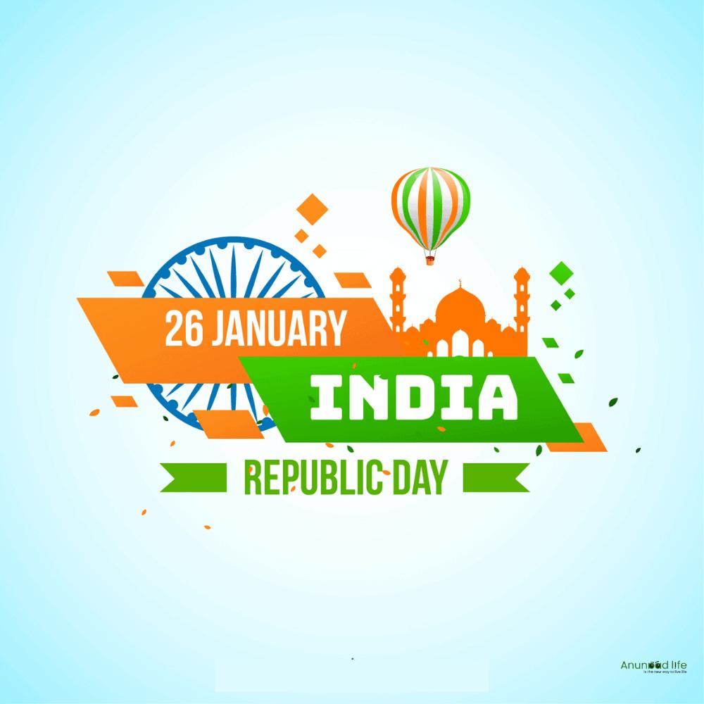 republic day with ballon