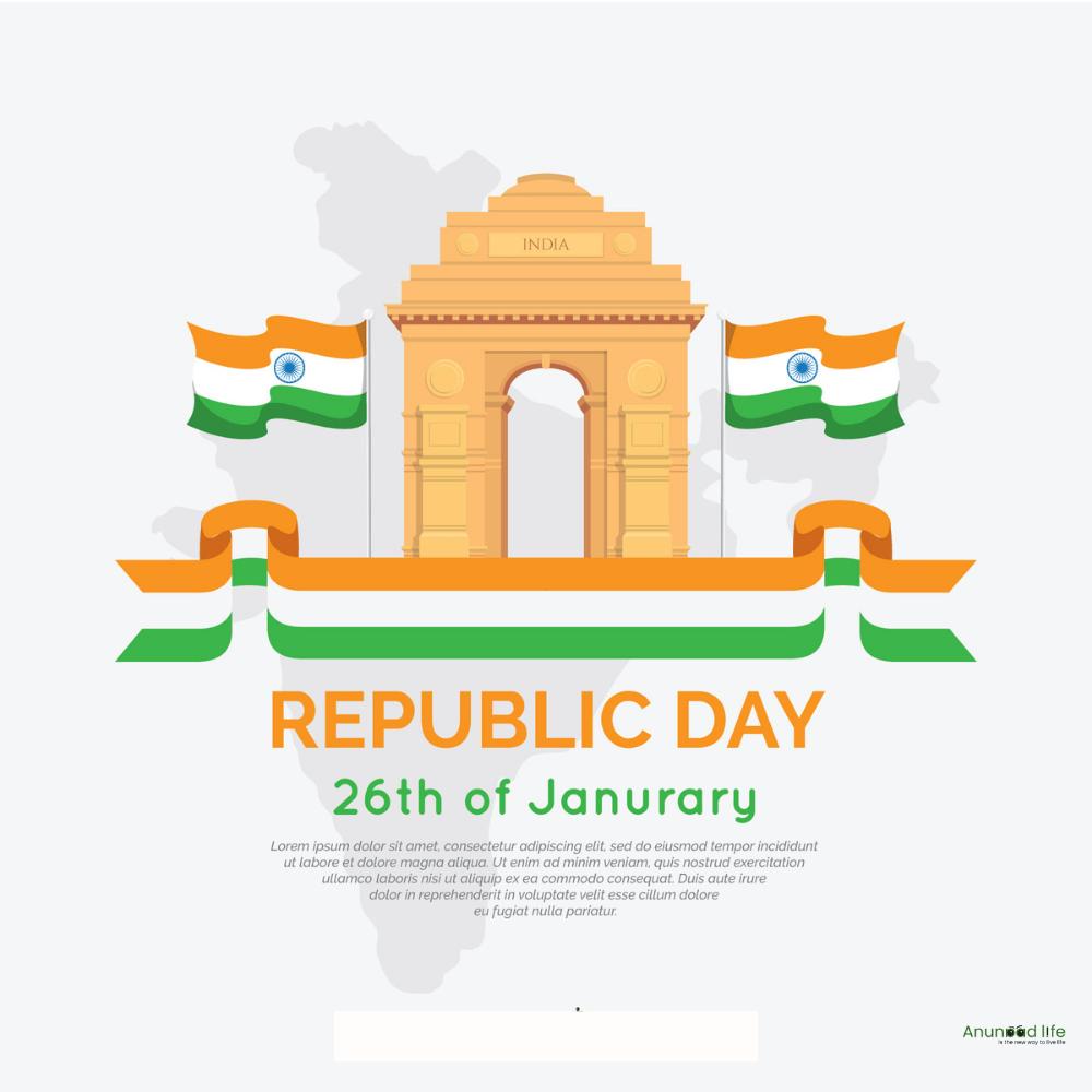 india gate republic day